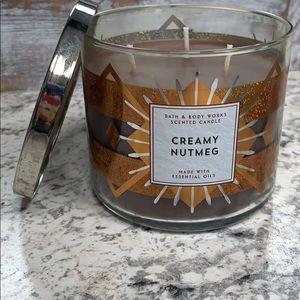 Creamy Nutmeg 3 wick candle